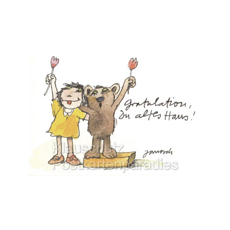 Little Tiger Janosch Postkarten | Gratulation Geburtstagskarte