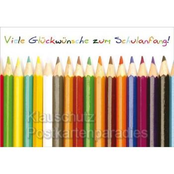 Klappkarte zur Einschulung: Glückwünsche zum Schulanfang