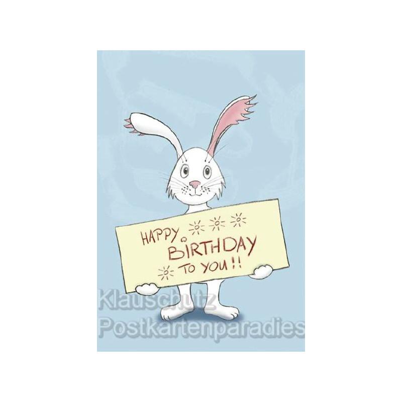 Happy Birthday Hase Klapp Geburtstagskarte