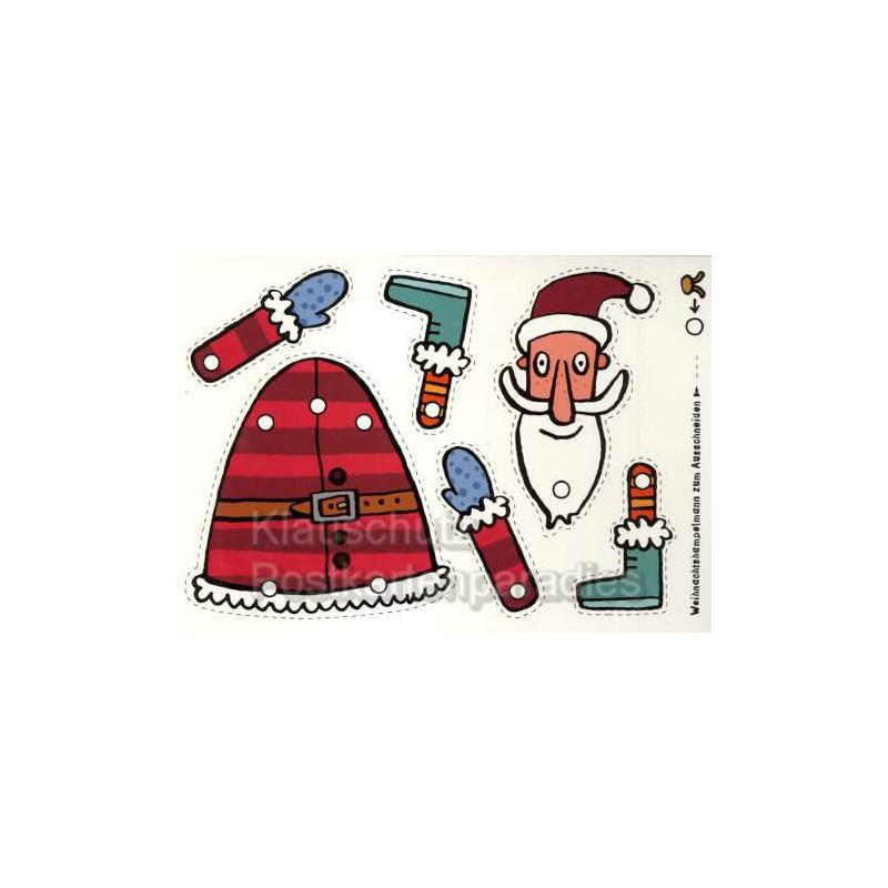 klappkarten weihnachtskarten weihnachtsmann. Black Bedroom Furniture Sets. Home Design Ideas