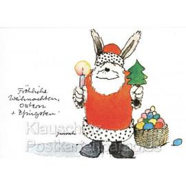 Janosch Weihnachtskarten - Fröhliche Weihnachten Weihnachtsmann