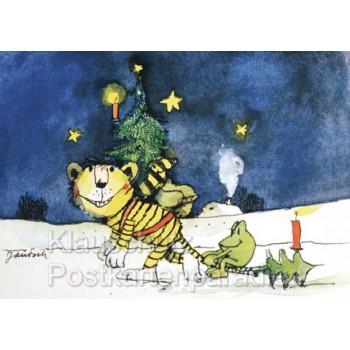 Janosch Weihnachtskarten | Tiger, Tigerente und Frosch