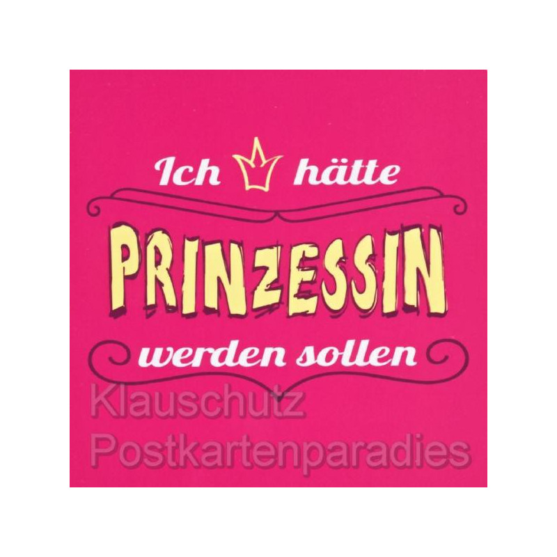 Gute-Laune Klebezettel Notizblock 'Prinzessin' - 50 Blatt