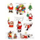 Janosch Postkarte Weihnachten mit Stickern - Weihnachtsgrüße Weihnachtsmann
