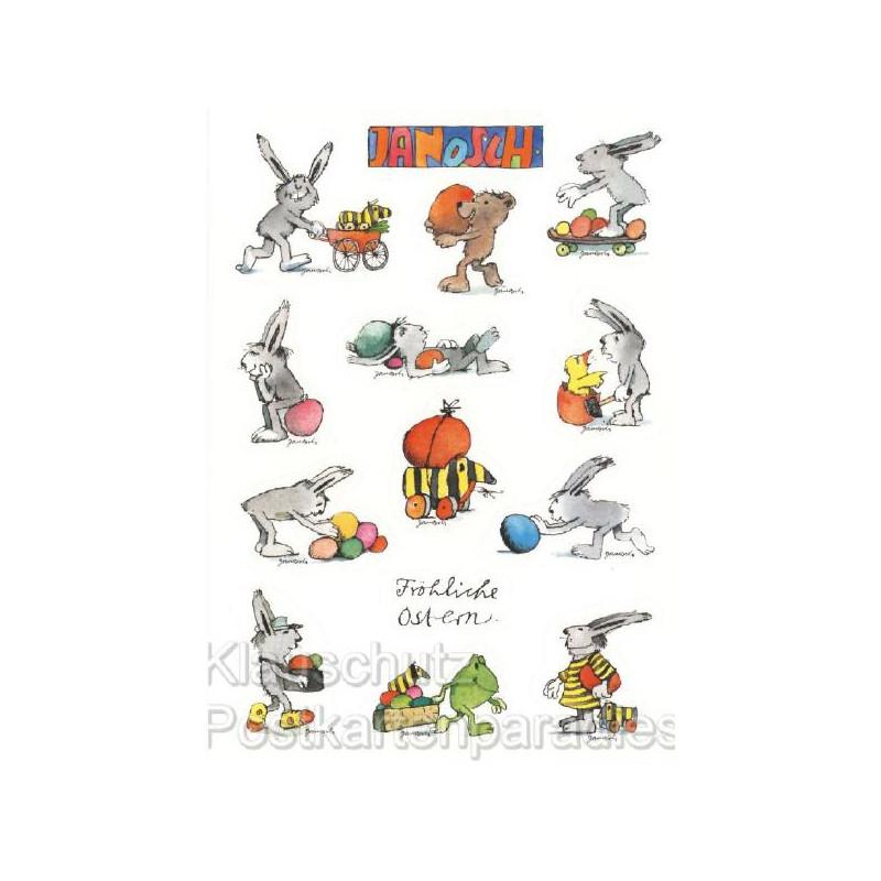 Janosch Stickerkarte Fröhliche Ostern