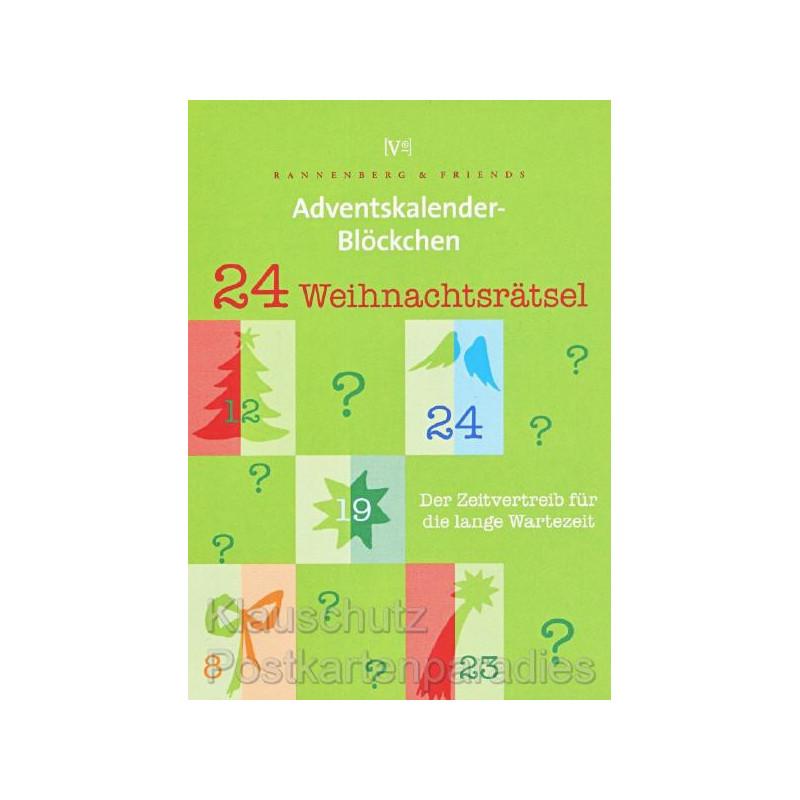 Adventskalender Blöckchen Weihnachtsrätsel