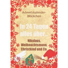 Adventskalender Blöckchen von Rannenberg | In 24 Tagen alles über Nikolaus, Weihnachtsmann, Christkind und Co.