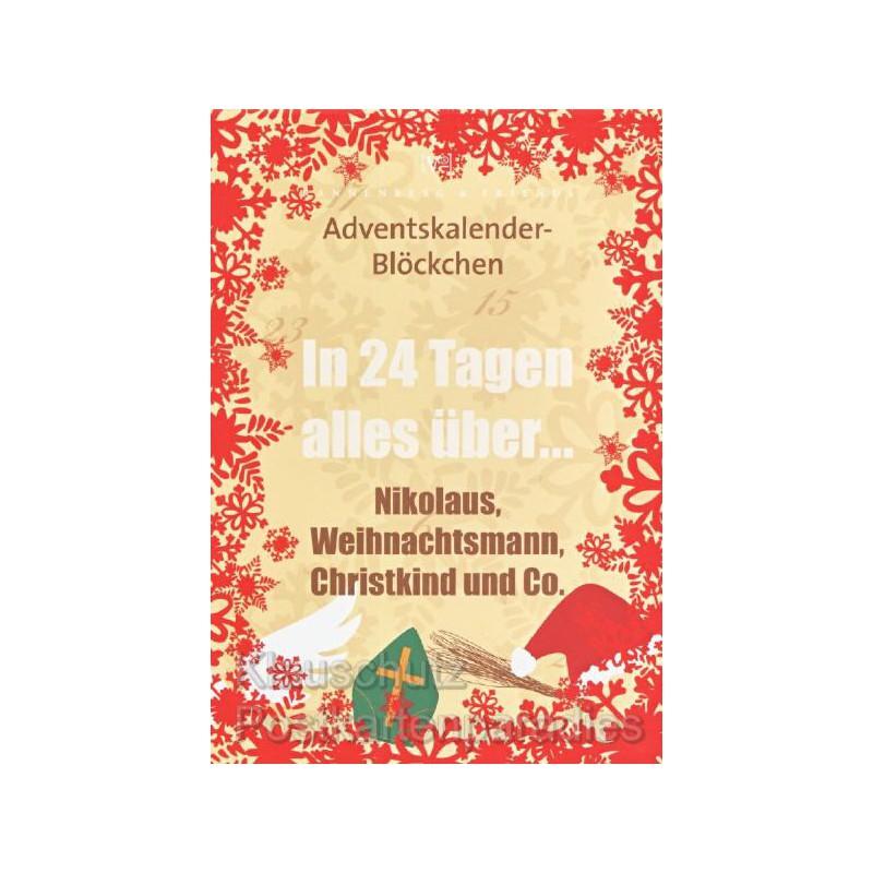 adventskalender bl ckchen weihnachtsmann. Black Bedroom Furniture Sets. Home Design Ideas