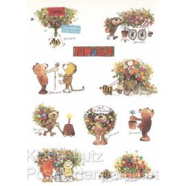 Janosch Geburtstagskarte mit lustigen Stickern