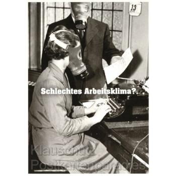 Postkarte: Schlechtes Arbeitsklima?  Lieferant: Skowronski und Koch Sprüchekarten und Postkarten