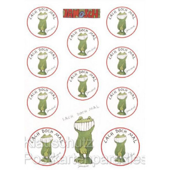 Janosch Sticker Postkarte | Lach doch mal Frosch