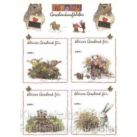 Janosch Postkarte mit Geschenkaufklebern zum Geburtstag