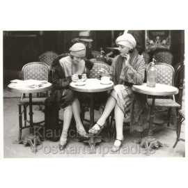 Frauen im Café - Foto Postkarte