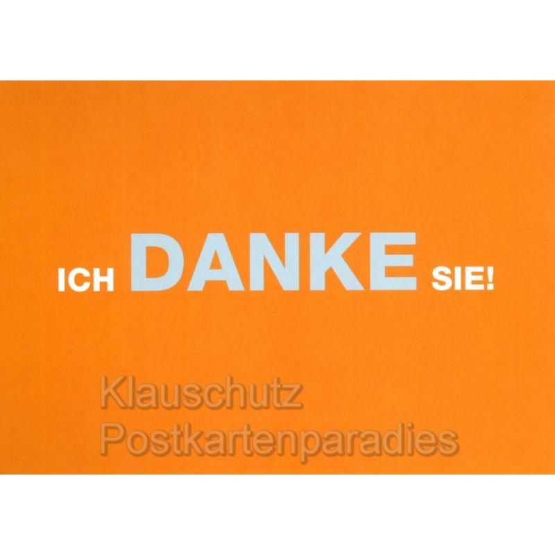 Ich danke Sie! - Witzige Ruhrpott Postkarten