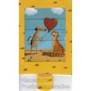 Hund und Katze mit Herz - Die lebende Karte
