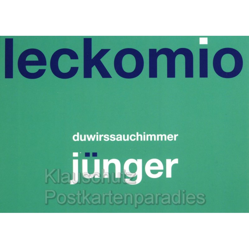 Leckomio - Witzige Dialekt Postkarte Ruhrpott