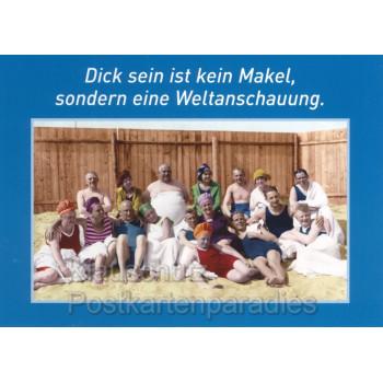 Sprüchekarte Postkarte von Discordia - Dick sein ist kein Makel