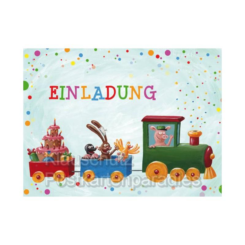 Großartig ... 14 Lustige Einladungskarten (7 Verschiedene Motive) Für Den  Kindergeburtstag ...
