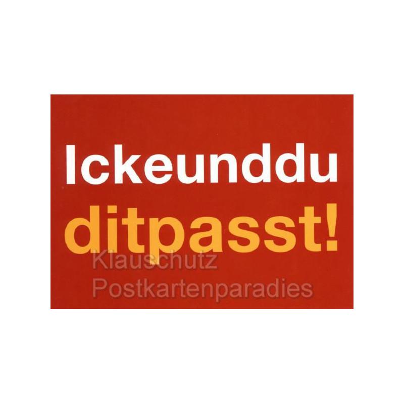 Postkarten Berlin | Icke und du, dit passt!
