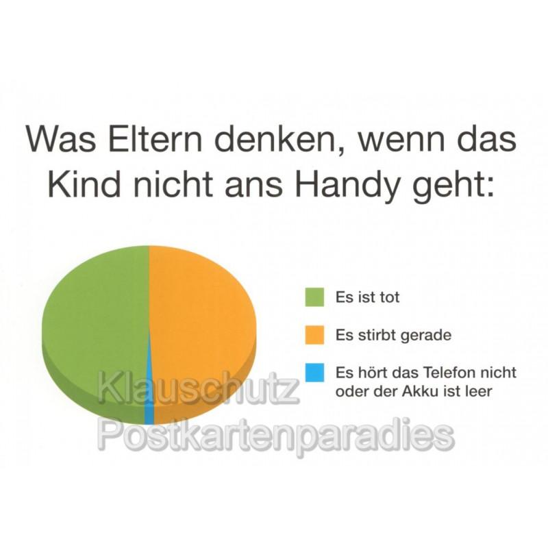 Was Eltern denken ... Sprüche Postkarte vom Rabenmütter Verlag