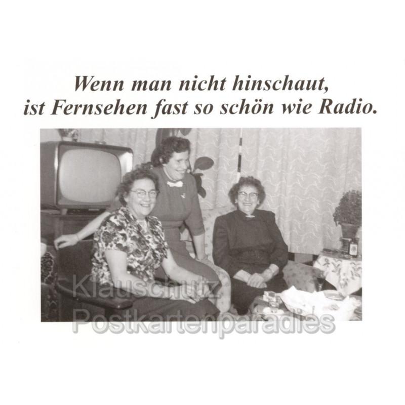 Fernsehen und Radio - Sprüche Postkarte von Discordia