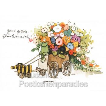 Ganz großen Glückwunsch | Janosch Postkarte mit der Tigerente