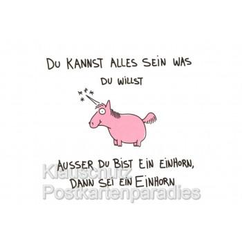 Sei ein Einhorn | Sprüche Postkarten von Rannenberg