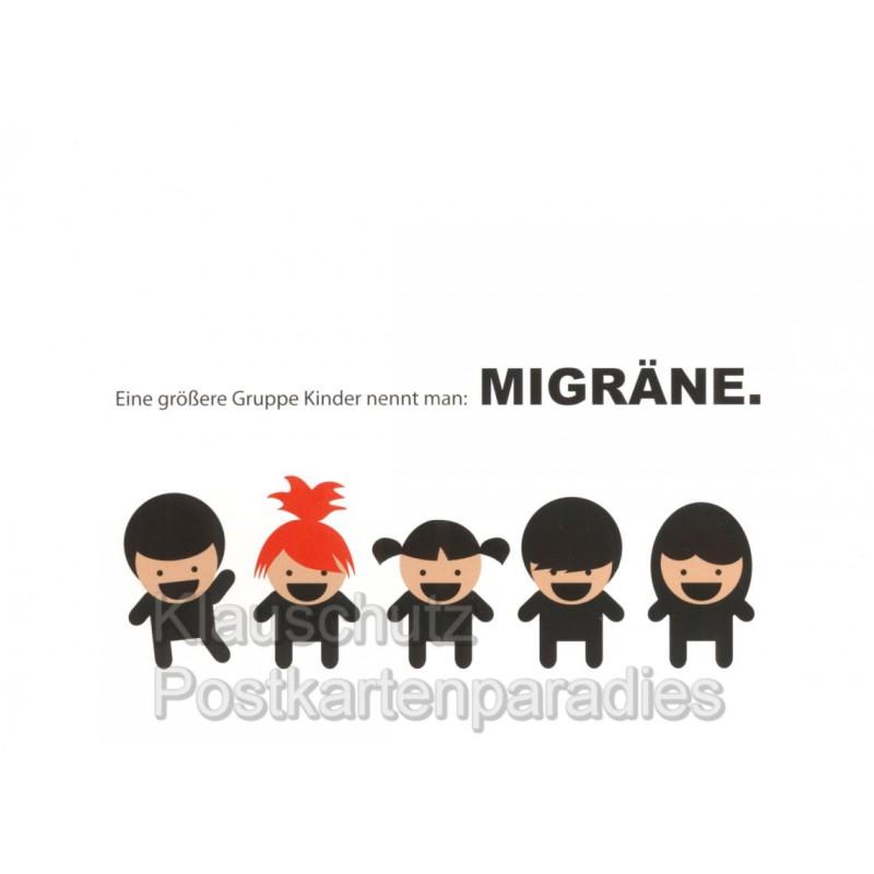 migräne sprüche Kinder und Migräne Postkarte migräne sprüche