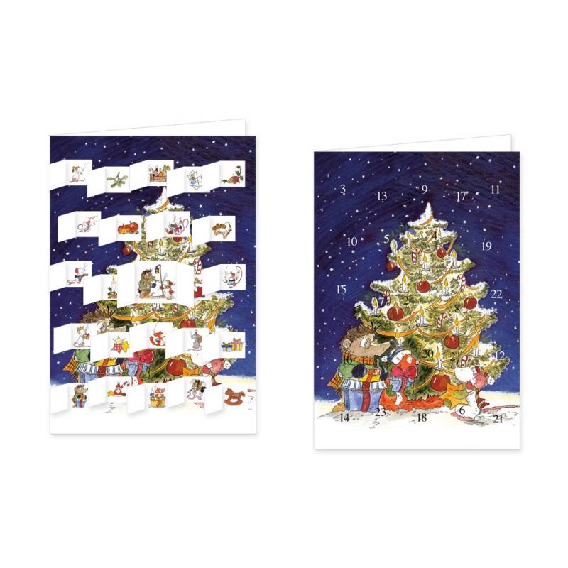 weihnachtskarte advent unterm weihnachtsbaum. Black Bedroom Furniture Sets. Home Design Ideas