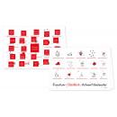 Rundum Glücklich Adventskalender Weihnachtskarte mit aufgeklappten Türchen