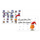 Ein süßer, 'braver' Adventskalender Doppelkarte von Nastja Holtfreter