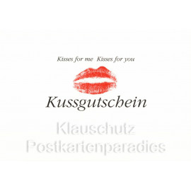 Kussgutschein Postkarte Kisses for you