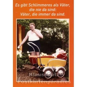 Lustige Väter Postkarte von Discordia