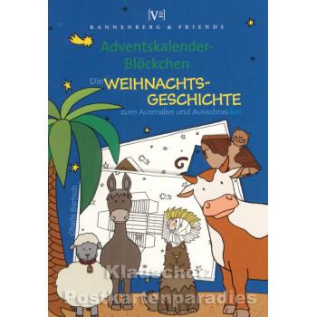 Advent Blöckchen Weihnachtsgeschichte von Rannenberg