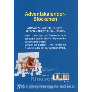 Advent Blöckchen Weihnachtsgeschichte von Rannenberg - Rückseite