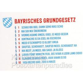 Bayrisches Grundgesetz | Bayern Sprüche Postkarten von Cityproducts