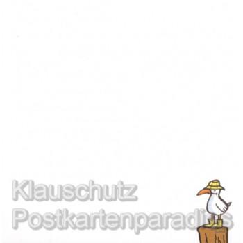 Klebezettel Blöckchen Küste