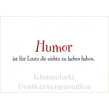 Nichts zu lachen | Humor Postkarte