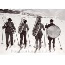 Musikern auf Skiern   Fotokarte von Discordia