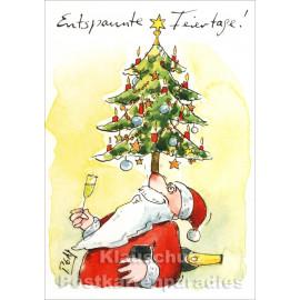 Entspannte Feiertage! Peter Gaymann Weihnachten