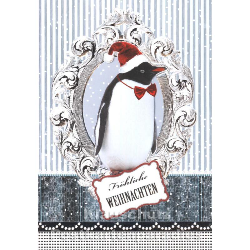 Pinguin Weihnachten Doppelkarte von ActeTre