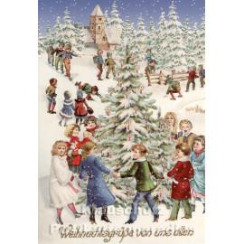 XXL Doppelkarte Weihnachtsgrüße