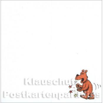 "Klebezettel Blöckchen Schule ""Lepra"""