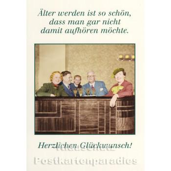 Doppelkarte Geburtstag von Discordia | Älter werden ist so schön