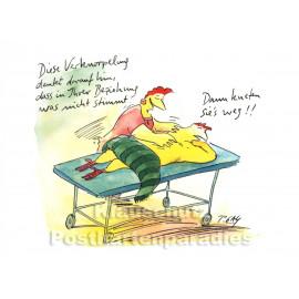 Lustige Peter Gaymann Hühner Postkarte | Wegkneten