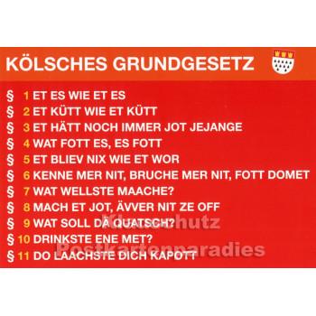 Postkarte Kölsches Grundgesetz - Et es wie et es ...