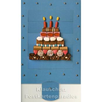 Lebende Postkarten | fertige Torte mit Kerzen