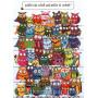Welche Eule schielt   Wimmelbild Postkarten von SkoKo
