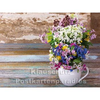 Frühlingsgrüße - Postkartenbuch mit Blumen