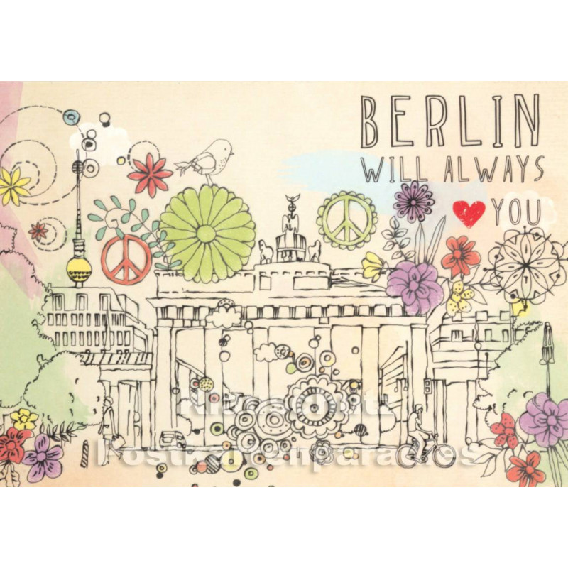 Berlin will always love you | SkoKo Postkarte